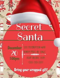 Secret Santa 传单(美国信函) template