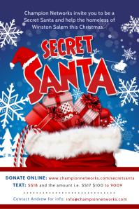 Secret Santa Fundraiser Poster Design