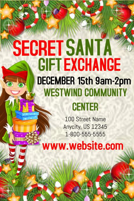 secret santa gift exchange template