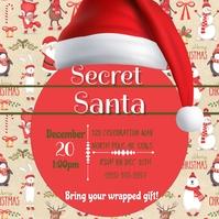 Secret Santa Insta Instagram-bericht template