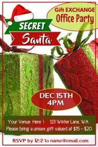 Secret Santa Party Poster template