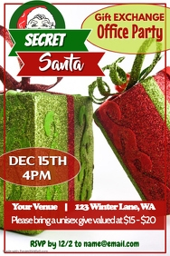 Secret Santa Party Poster