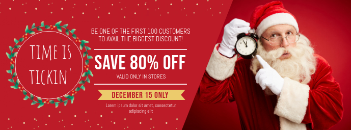Secret Santa Sale Banner Facebook Cover Photo template
