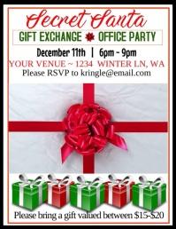Secret Santa Video Flyer