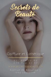 Secrets de Beaute Beauty Salon Poster