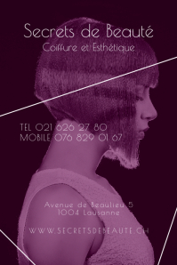 Secrets de Beaute Clean Beauty Salon Poster