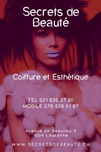 Secrets de Beaute Clean Beauty Salon Poster