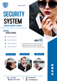 security agent A4 template