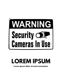 security camera sign template