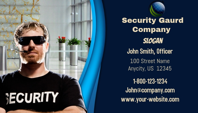 Security Gaurd Business Card Template