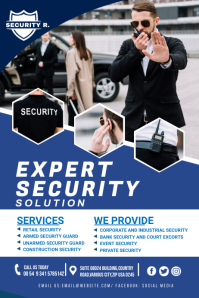 security service flyer Banner 4' × 6' template