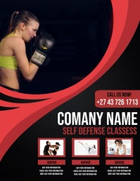 self defense classess Pamflet (VSA Brief) template