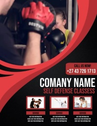 self defense classess Pamflet (Letter AS) template