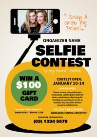Selfie Contest Flyer A4 template