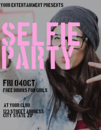 Selfie Party Club Flyer Template
