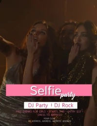 Selfie Party Video Flyer Template