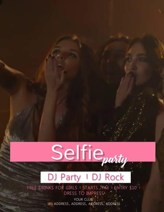Selfie Party Video Flyer Template