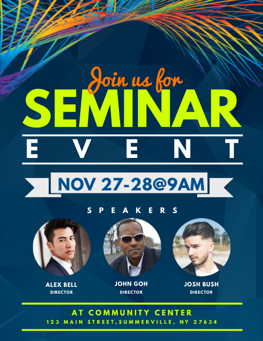 Seminar Event Flyer Template Postermywall