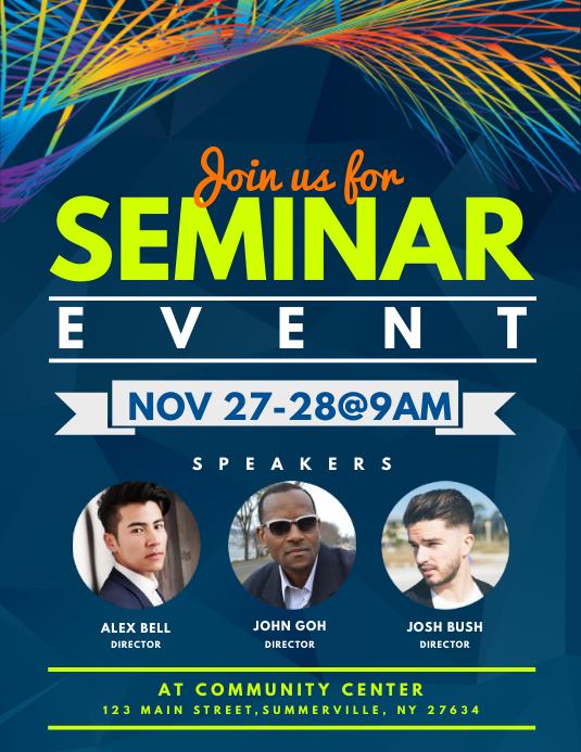 Seminar Event Flyer