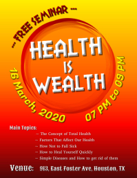 Seminar - Health is Wealth