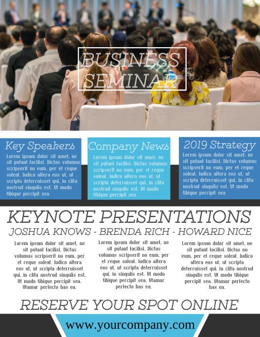 Seminar Metting Corporate Flyer Template