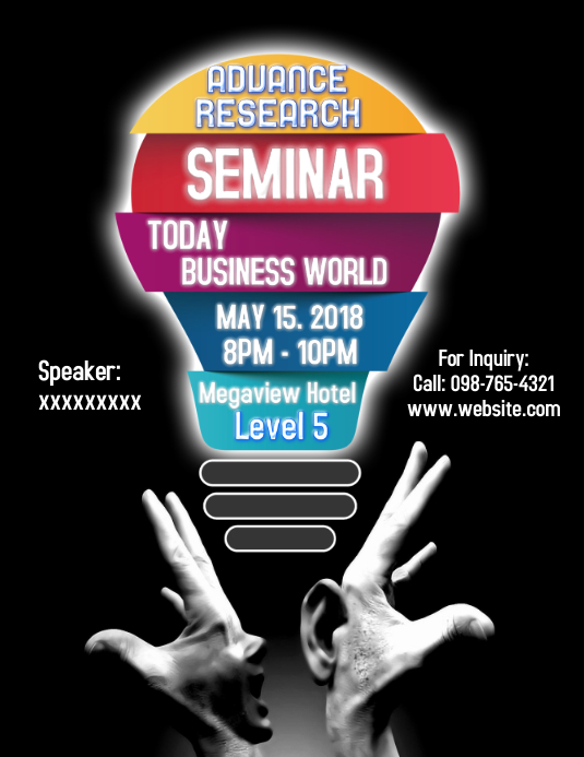 Seminar Poster Template | PosterMyWall
