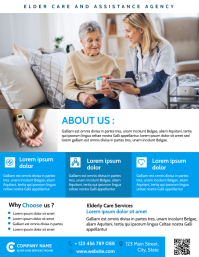 senior and elder care assistance agency flyer ใบปลิว (US Letter) template
