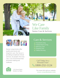 Senior Care & Assisted Living Services Flyer