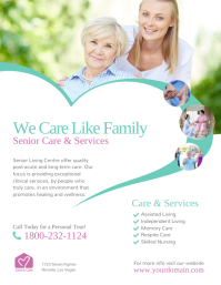 Senior Care & Services Flyer Template