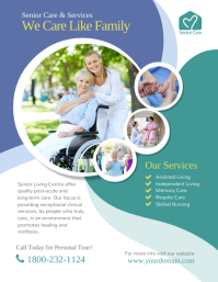 Senior Care & Services Skilled Nursing Flyer (US Letter) template