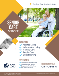 Senior Care Assisted Living Flyer Template Pamflet (Letter AS)