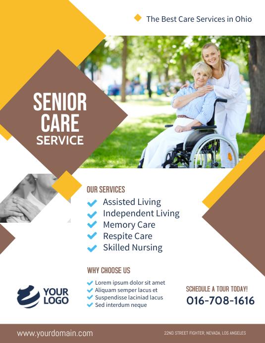 Senior Care Assisted Living Flyer Template Folder (US Letter)