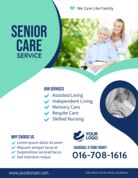 Senior Care Assisted Living Flyer Template