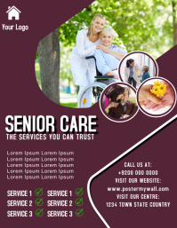 Senior Care Centre Flyer Ad Template