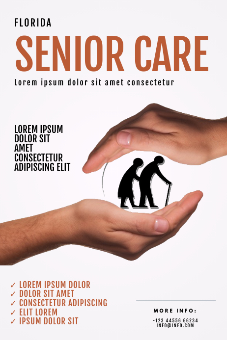 Senior Care Company Flyer Template Poster