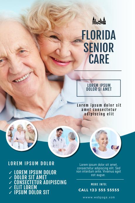 Senior Care Company Flyer Template