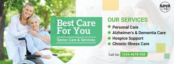 Senior care facebook cover template