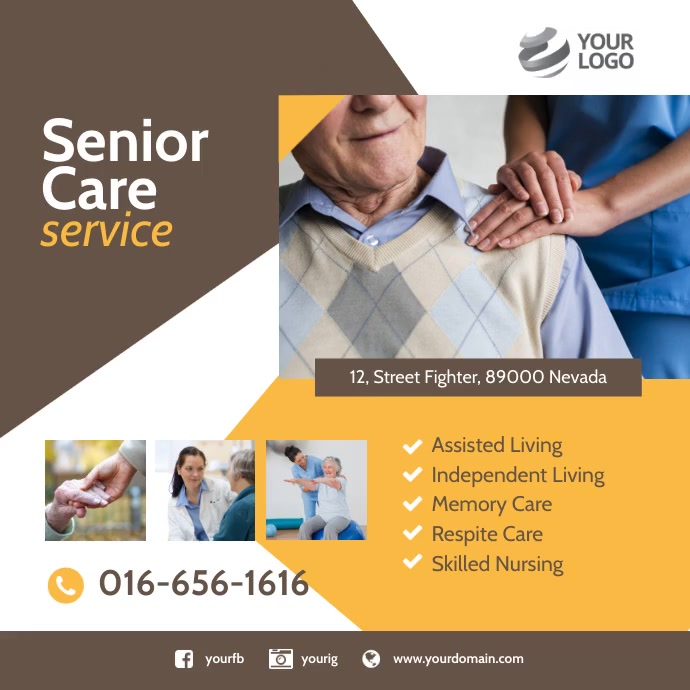 senior care Instagram Ad Template Instagram-opslag