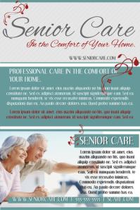 Senior Care Poster template