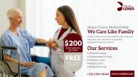 Senior Care Service Ad Twitter Post template