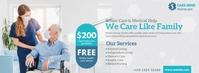 Senior Care Service Ad Facebook Cover Photo template