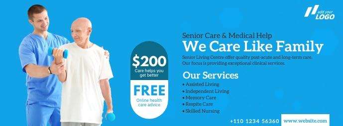 Senior Care Service Ad Cover na Larawan ng Facebook template