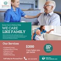 Senior Care Service Advert Instagram Post template