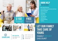 Senior Care Service Flyer A4 template