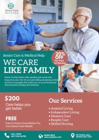 Senior Care Service Flyer A4 template