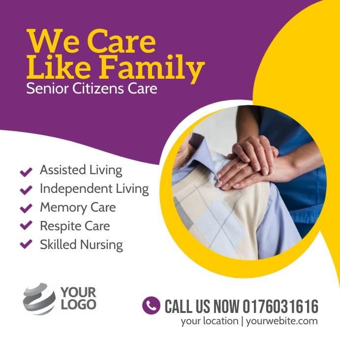 Senior care services instagram template