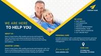 senior citizens care Message Twitter template
