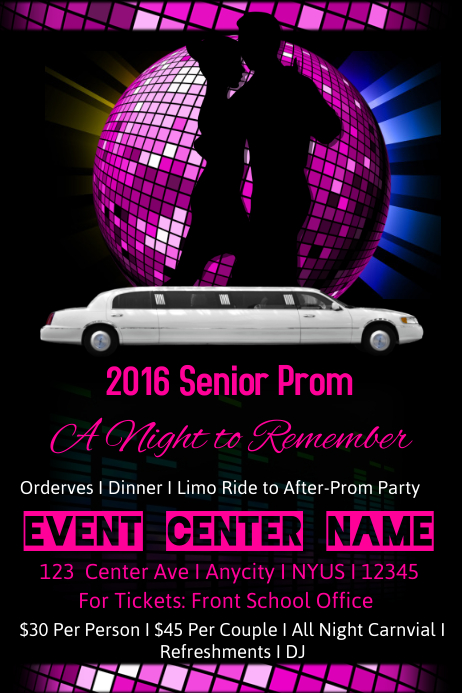 Senior Prom Template Postermywall