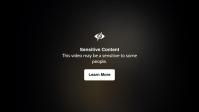 Sensitive Content Video Thumbnail Template Видеообложка профиля Facebook (16:9)