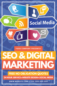 SEO & Digital Marketing Poster